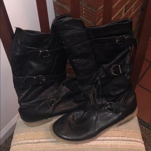 Charlotte Russe Leather Boots
